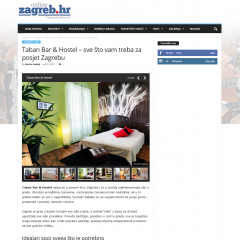 Press clippings: Taban all you need for your stay in Zagreb